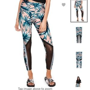 New VS Palm Print Mesh High Waisted Leggings